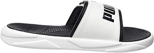 PUMA Royalcat Comfort, Sandalias Deslizantes Unisex Adulto, Blanco White Black, 48.5 EU