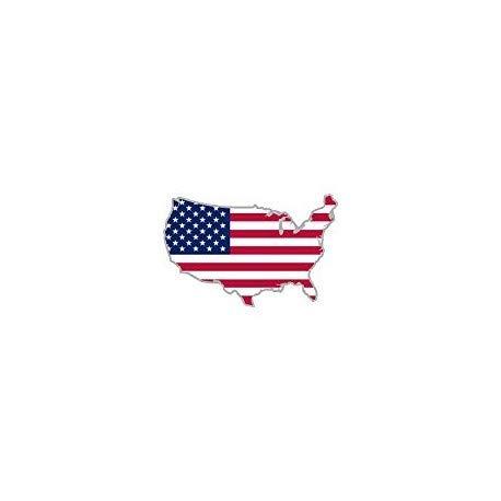 Stickers voor auto, motorfiets, kaart, vlag van de VS - grootte: 8 cm