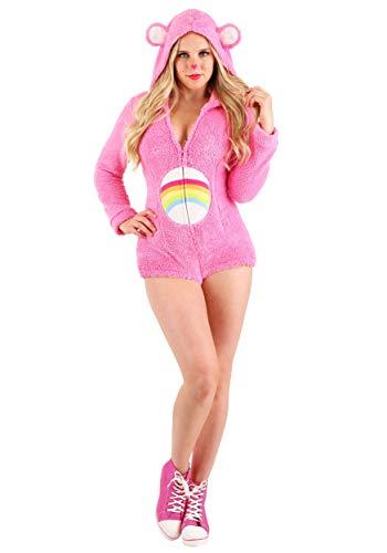 Care Bears Cheer Bear Romper Women's Costume Medium Pink
