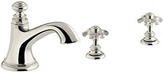 KOHLER Artifacts Bell Spout with Prong Handles - Vibrant Polished Nickel