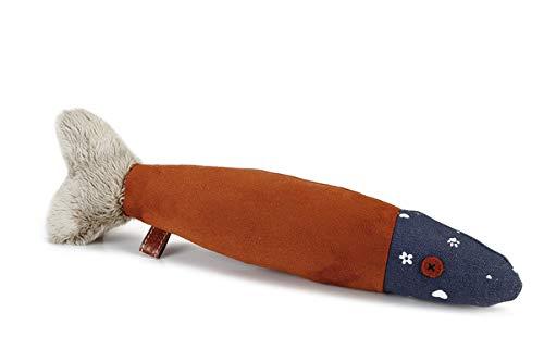 Karlie 619817 Designed by Lotte Hundespielzeug Fisch, L: 34 cm, bordeaux