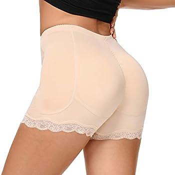 Women s Butt Lifter Underwear Boyshort Shapewear Panties Body Shaper Padded Hip Butt Enhancer with Lace