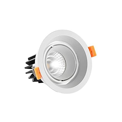 Luz de trabajo 7W LED Focos planos del techo del panel empotrado del techo de la luz downlight-blanco cálido 3000k Tamaño de orificio abierto 95 mm Interior Abajo Luces Fuego Calificación de la luz de