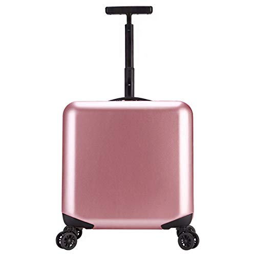 Adlereyire Trolley Suitcase Lightweight Durable Carry On Cabin Hand Luggage Set, Travel Bag with 4 Wheels (Color : Rose-gold, Size : 43 * 24 * 42cm)
