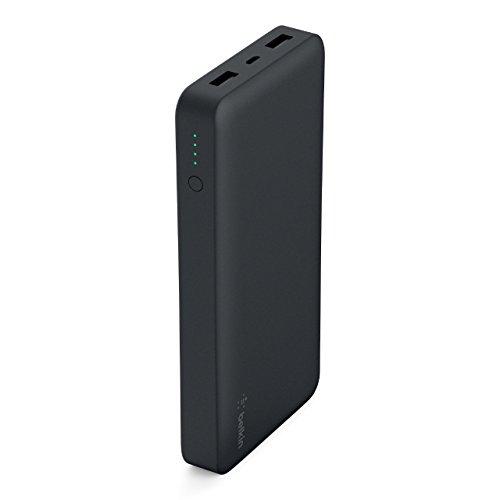 Belkin Batteria Esterna Pocket Power 15K, (Power Bank Certificata per iPhone12, 12Pro, 12Pro Max, 12 mini, 11, 11 Pro/Pro Max, X, XS, XS Max, 8/8+, iPad, Samsung Galaxy S10/S10+/S0e), Nero