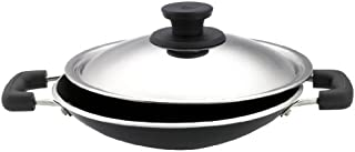 Pigeon by Stovekraft Special Non-Stick Appachetty with Lid, 200mm, Black