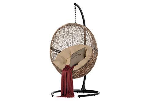 Mercury Fauteuil suspendu – The Rebirth – Balancelle suspendue pour chambre d'enfant et chaise suspendue de jardin, chaises robustes et résistantes adaptées pour l'intérieur et l'extérieur marron