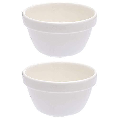 Mason Cash Pudin Lavabo Comida Utensilios de Cocina Fuente de Horno Cocina 12.5cm Blanco (Paquete De 2) - Blanco