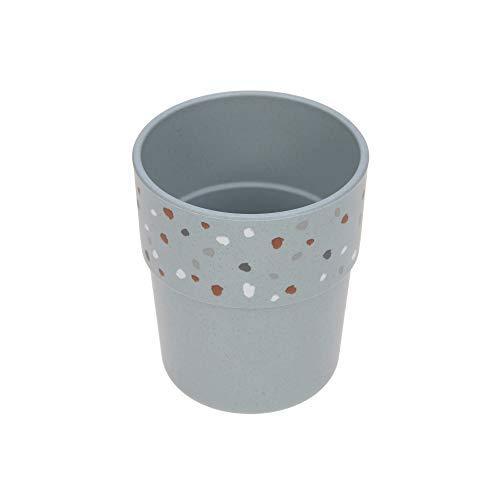 LÄSSIG Kinder Becher Trinkbecher Tasse Kindergeschirr ohne Melamin, BPA-frei, für Spülmaschine und Mikrowelle/Mug Tiny Farmer Sheep/Goose blue, blau