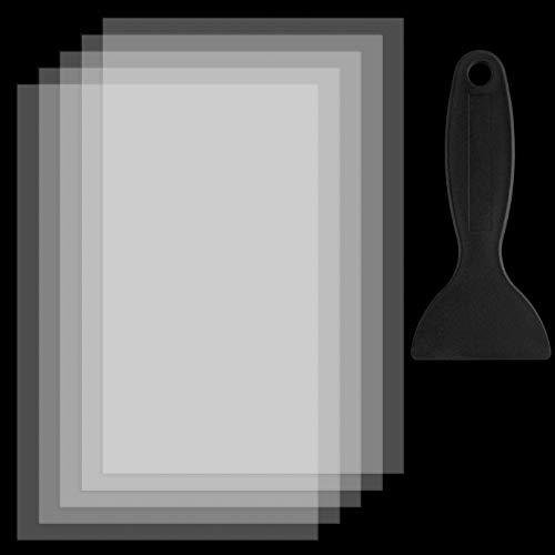 KONUNUS 5 Pezzi FEP Film per SLA DLP LCD Photon Printer 200 x 140 x 0,15 mm Spessore Alta Trasmissione Forza di Rilascio FEP Film Foglio Resina per Stampante UV 3D Accessorio