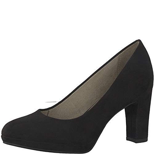 Tamaris Damen Pumps 22460-24, Frauen Plateaupumps, elegant Women's Women Woman Freizeit leger Plateau-Sohle Plateauschuhe bequem,Black,39 EU / 5.5 UK