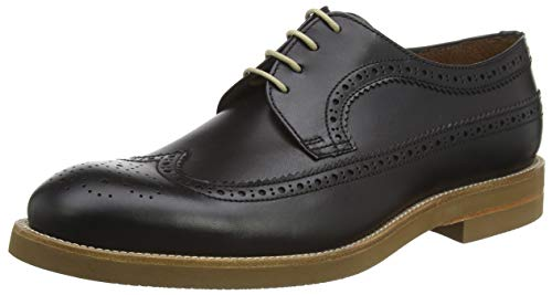 Lottusse T2470, Zapatos de Cordones Brogue Hombre, Negro (Duca Negro Duca Negro),...