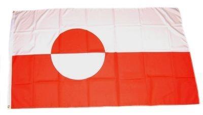 Fahne / Flagge Grönland NEU 90 x 150 cm Flaggen by FahnenMax®