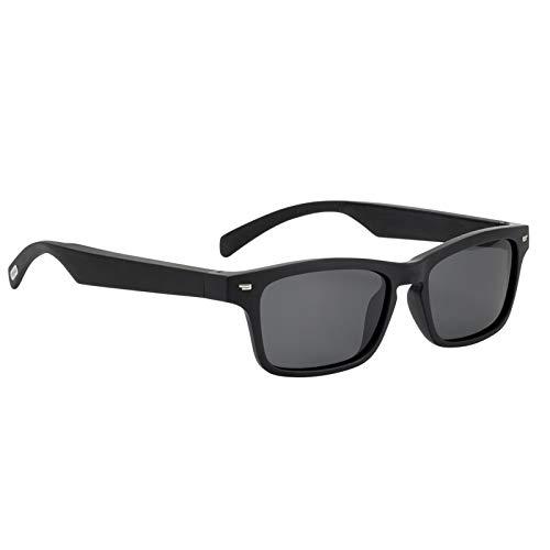 KKmoon Gafas de Audio Inteligentes Inalámbrica BT Gafas de Música y Llamadas Manos Libres Marco de Anteojos Polarizados con Micrófono para Hombres y Mujeres