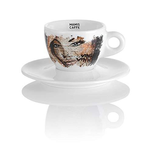 Mamis Caffè Elena Cappuccino Taza de porcelana blanca con motivo 180 ml
