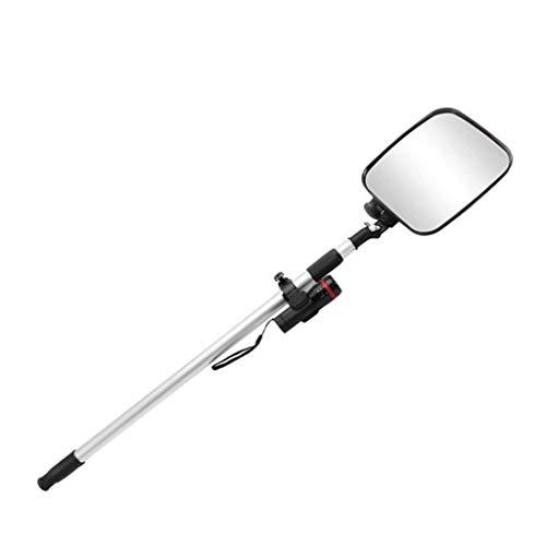 zyy Draagbare Convex Spiegel, ABS Framework Verstelbare Handvat 112cm Dode Hoek Monitoring Voertuig Inspectie Acryl Diameter 16cm A