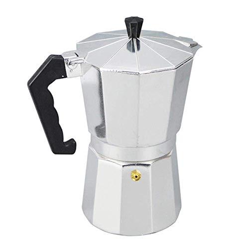 Olla de prensa francesa Aluminio Moka Cafetera Estufa italiana superior de la estufa de cafetera Moka Pot herramienta Pot Cocina de gas del horno de la estufa de alcohol Accesorios, 450ml Para café ex