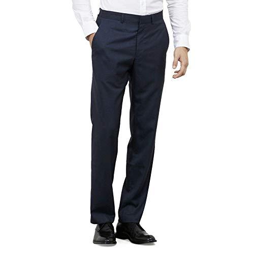 Kenneth Cole REACTION Men's Slim Fit Suit Separate Pant (Blazer, Pant, and Vest), Blue, 38W x 30L