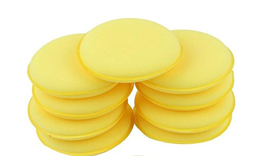 VNDEFUL 12 PCS Yellow Microfiber Wax Applicator, Sponge Applicator Pads,Fit for Clean Car Vehicle Auto Glass