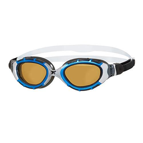 Zoggs Predator Flex Polarized Ultra Reactor Goggles M Blue/metallic Silver/Copper 2020 Schwimmbrille