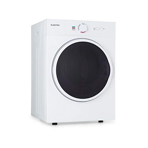 Klarstein Jet Set - Secadora de ropa por salida de aire, Potencia 1020 W, 2 niveles, Temporizador 20-200 min, Tambor de acero inoxidable, Capacidad 3 kg, 60 dB, 49 x 69 x 47,5 cm, Blanco seda