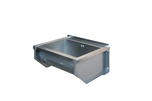 KUNe 50 cm Ausgussbecken | 50 x 25 x 35 cm | Waschtrog aus Edelstahl | Waschbecken