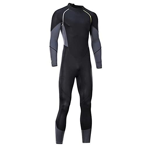 ReedG Traje de trabajo de los hombres ultra estiramiento Una pieza para hombres, snorkeling, buceo nadando, surf. Natación de buceo (Color : Black Gray, Size : XL)