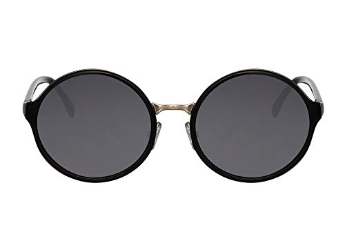 Cheapass Sunglasses Gafas de Sol Redondas Ibiza Hippie Fiesta Montura Negra con Lente Oscura Protegida UV400 Mujer