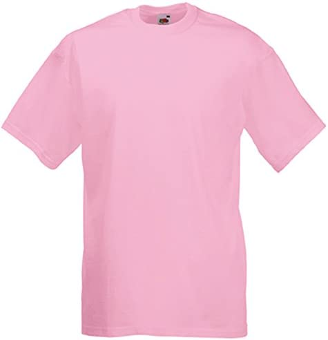 Fruit of the Loom Camiseta Manga Corta Hombre Rosa Claro