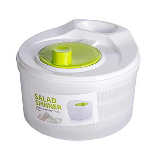 Centrifugadora para Ensalada Secador Rápido de Verduras Spinner para Verduras con Cuenco Eficaz y Fácil de Usar Secador de Verduras Lechuga Escurridora y Vegetales con Facilidad para Mezclar E