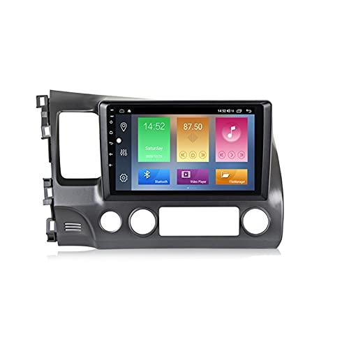 ADMLZQQ Car Radio Stereo 2 DIN Android10.0 para Honda Civic 2005-2012 GPS navegación capacitiva Pantalla táctil Manos Libres Bluetooth MP5 Player Radio FM/RDS Controles del Volante,M300 3+32g