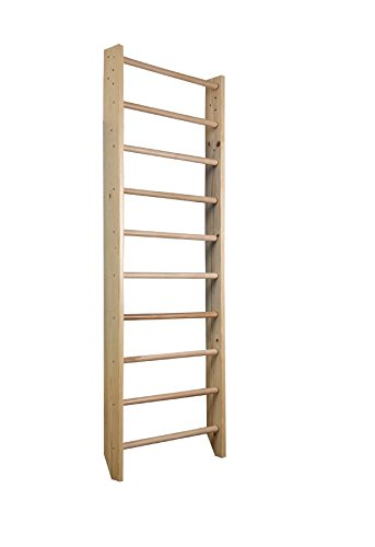 DANI Wall Bars BB-00-220, 87 in Wooden Swedish Ladder Set for Training and Physical Therapy - Used...