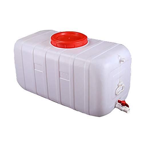 JB-Shuitong Wassertank Mit Wasserhahn Dicken Kunststoff-Wasservorratsbehälter Outdoor Tragbaren Wassereimer Weinfass Industriechemikalien Fass, 25-150L, weiß (Size : 50L)
