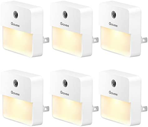 Govee Dusk to Dawn Night Light Plug in Soft Warm White LED Night Light for Bathroom Bedroom product image