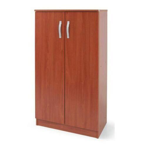 Armadio scarpiera legno nobilitato 2 ante ciliegio 4 ripiani 130x71x38