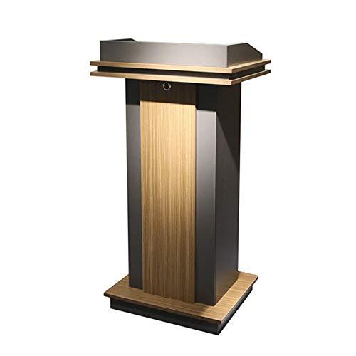 TnSok Stehendes Podium Floor-Lektoren Podium Steady Stabing Design Lehrer-Lautsprecher-Vortrag Klassenzimmer-Präsentationsstand (Color : Dark Gray, Size : One Size)