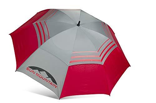 Sun Mountain 2019 Model Double Canopy Manual Operation 68 Inch Umbrella (Gray Red)