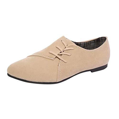 Damen Mokassin,Mode Bootsschuhe Casual Leder Loafers Elastisch Bequem Fahren Flache Schuhe Halbschuhe Slippers Erbsenschuhe Schnürschuhe TWBB