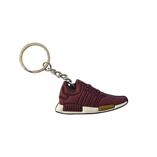 ProProCo NMD Sneaker Schlüsselanhänger Stripes Schuh Schlüsselanhänger Boost Ultra Schuh anhänger Fashion für Sneakerheads,Hype-Beasts und alle Keyholder Adi Yeez Supreme Palace (Burgrundy)