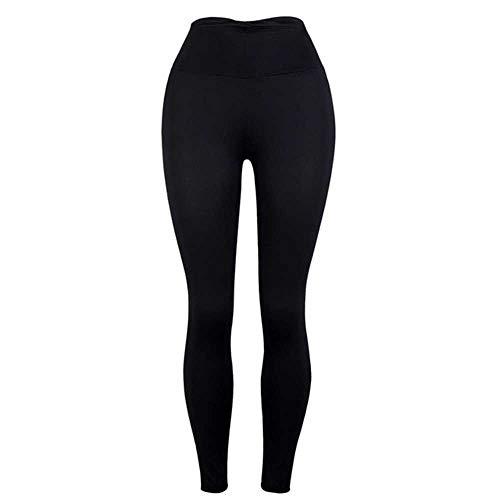 Pantalones de yoga para mujer, color puro, cintura alta, ajustados, color negro, gris, elástico, transpirable, para correr, entrenamiento, deportes, desgaste