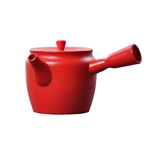 Tetera de porcelana de estilo japonés Tetera de porcelana con asa lateral de estilo japonés Juego de té de Kung Fu tetera de cerámica