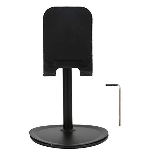 Soporte de escritorio, protector Klsniur gooseneck Tablet Storage/Soporte con ABS 100x155mm para teléfono móvil Tablet (Negro)
