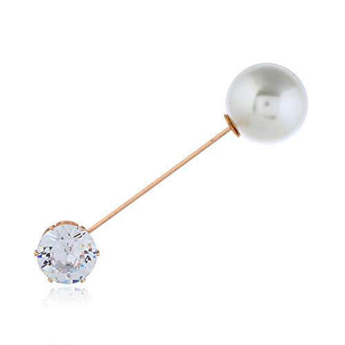 YAOHONG Broocesis Automne et Hiver, Coréen rétro Anti-Light Five Fleur de Pétal Broche Perle Broche Femelle Métal Silk Foulard Boucle Aiguille Minimaliste (Size : A)