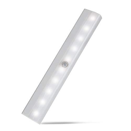 KAFITE Sensore di Movimento Luce Bard LED PIR Armadio Leggero Armadio Lampada da Letto LED sotto Cabinet Luce Notturna per Armadio Scale Cucina (Color : Cold White, Size : 6 LED)