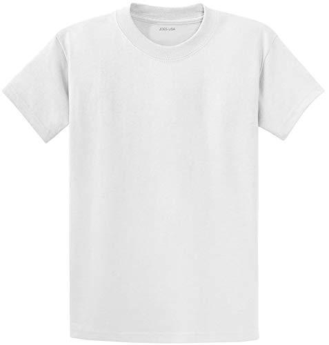 Joe's USA Heavyweight 6.1-Ounce, 100% Cotton T-Shirts, M - White