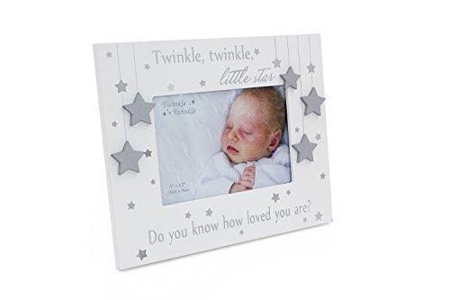 Twinkle Twinkle Little Star Bilderrahmen, freistehend, Weiß