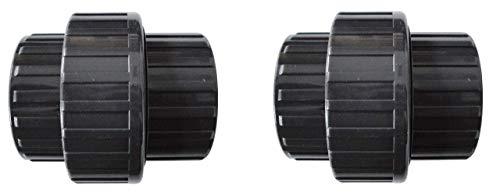 well2wellness® PVC-U Verschraubung mit 2 x Klebeanschluss - 50 mm - 2 Stück (200122)
