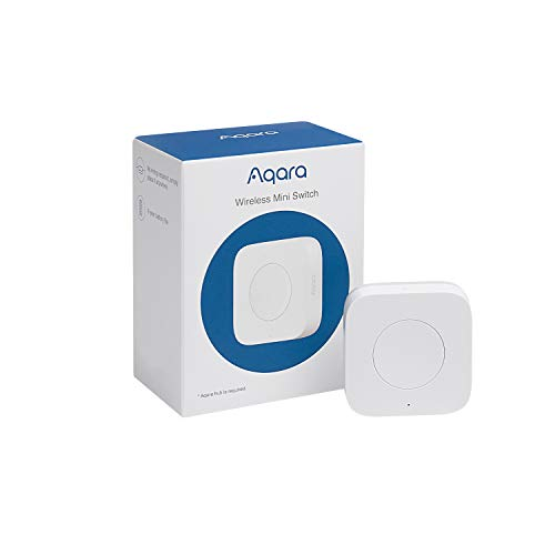 Aqara Wireless Mini Switch, Versatile 3-way Control Button for Smart Home Devices, Compatible with Apple HomeKit, Requires Aqara Hub