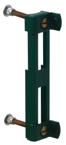 GAH-Alberts 654009 Anschlag für Wellengittertore mit Einsteckschloss, verzinkt, grün kunststoffbeschichtet