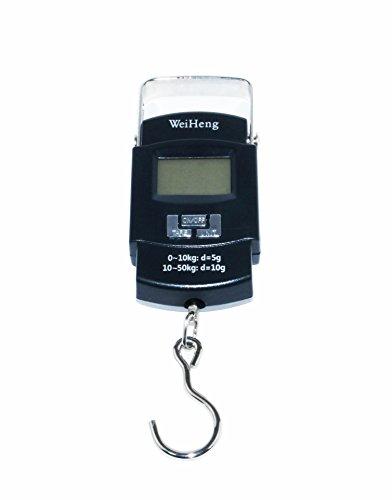 Weiheng Digitale Präzisions-Personenwaage, 50kg, wiegt Elektronische Küchenwaage von Hand, Gepäck, Angeln, Gepäck, Aufhängen, Wiegt Reise.